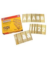 "C.H. Hanson 10151 92Pc 2"" Letters & Numbers Stencil Set"