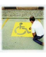 "C.H. Hanson 12438 43"" High Handicapped Symbol Parking Lot"