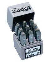 "C.H. Hanson 22861 1/8"" Hd Premier Number Stamp Set 9Pc"