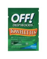 Raid/Off 395-Cb549967 Off Deep Woods Towelettes-25% Deet (Qty: 1)