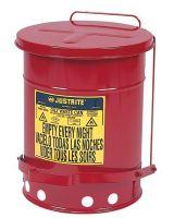 Justrite 400-09100 6 Gallon Oily Waste Canw/Lever (1 EA)