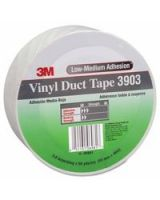 "3M Industrial 051131-06981 White Vinyl Duct Tape 3903 2"" X 50Yds 6.2 Mil"