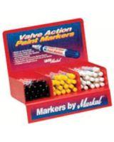 Markal 96810 White Valve Action Paintmarker Display