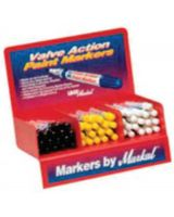 Markal 96810 White Valve Action Paintmarker Display