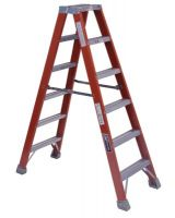 Louisville Ladder Fm1504 4' Fiberglass Twin Stepladder Type 1A