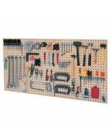 Kennedy 50004TX 4-Panel Steel Toolboardst  W/60 Pc Hook St Tan
