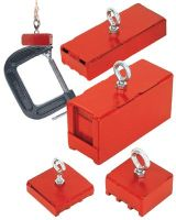 Magnet Source 07541 Heavy Duty Magnetic Base100Lb Pull Red