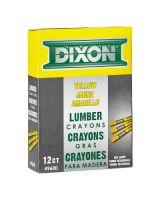 Dixon Ticonderoga 49600 Yellow Lumber Crayon (12 MKR)