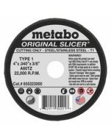 "Metabo 469-55323 Type 1 ""Slicer"" Wheels 4""X.040""X3/8"" A60Tz (Qty: 1)"
