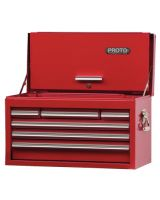"""Proto 442715-6RD-D Red Drop Front Chest 27X15"""" 6 Drawer"""