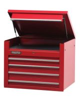 """Proto 453427-4RD 34"""" Chest 4 Drws Red"""