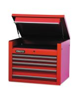 """Proto 453427-5RD 34"""" Chest 5 Drws Red"""