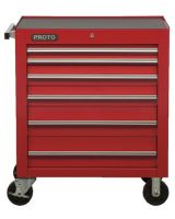 "Proto 453441-6RD 34"" Roller Cabinet 6 Drws Red"