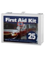 Pac-Kit 6086 25 Person Steel Contractor'S First Aid Kit