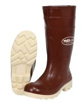 "River City BBS1607 16"" Pu Knee Boot- Mens-Steel Toe- Brick/ Beige"