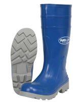 "River City BGP16010 16"" Pu Knee Boot- Mens-Plain Toe- Blue/Gray"