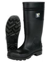 """River City PBP12010 16"""" Pvc Knee Boot- Mens-Plain Toe- Black"""