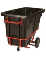 Rubbermaid Commercial 640-1305-42-Bla 1/2 Cu Yd Std Tt W/F (Qty: 1)