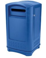 Rubbermaid Commercial 640-3969-73-Blue Plaza Paper Recyclin (1 EA)