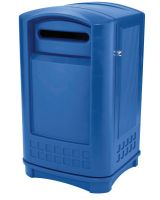 Rubbermaid Commercial 3969-73-BLUE Plaza Paper Recyclin