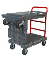 Rubbermaid Commercial 4497-BLA Convertible Platform Truck 24X52