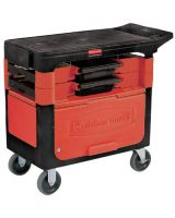 Rubbermaid Commercial 6180-88-BLA Trades Cart W/ Cabin