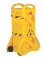 Rubbermaid Commercial 9S11 Yellow Mobile Safety Barrier