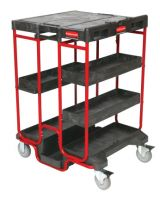 Rubbermaid Commercial 9T57 Black 500Lb. Capacity Ladder Cart