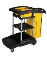 Rubbermaid Commercial 640-9T72 Black High Capacity Cleaning Cart (1 EA)