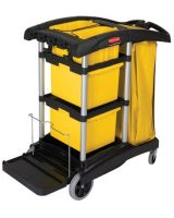 Rubbermaid Commercial 640-9T73 Black Microfiber Janitorcart (1 EA)