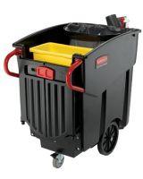 Rubbermaid Commercial 9W73 Black 120 Gallon Capacity Mega Brute Waste Colle