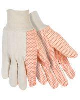Southern Glove 667-Usd103 Medium Weight Glove W/Orange Dots White Knit (Qty: 12)