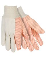 Southern Glove USD103 Medium Weight Glove W/Orange Dots White Knit (1 PR)