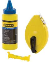 Stanley 47-443 Chalk Box With Blue Chalk And Line Level