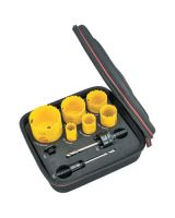 L.S. Starrett KDC06042-N Dch Electricians Kt A W/6 Holesaws & 3 Acc