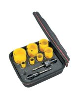 L.S. Starrett KFC07031-N Fch Plumbers Kit W/7 Holesaws And 3 Accessories