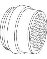 Honeywell North 695-105310 Organic Vapor/Acid Gas Cartridge W/P100 Filter (Qty: 4)