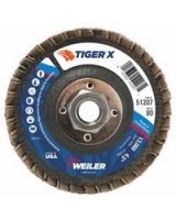 """Weiler 804-51207 4-1/2"""" Tiger X Fd  Ang Phen Back  80Z  5/8""""-11 (Qty: 1)"""