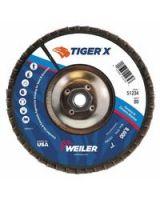 "Weiler 804-51234 7"" Tiger X Fd  Flat  Phen Back  80Z  5/8-11"" Arb (Qty: 1)"
