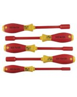 Wiha Tools 32291 5-Pc. Insulated Nut Driver Set Metric