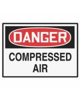 Accuform Signs 837-Lchl149Vsp Label  Dgr Compressed Air  3.5X5  Adh Vnl  5/Pk (5 PK)