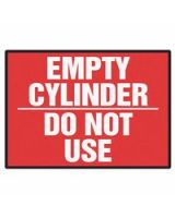 Accuform Signs 837-Lcpg506Vsp Label  Empty Cyl Do Nt Use  3.5X5  Adh Vnl  5/Pk (5 PK)