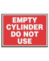Accuform Signs 837-Lcpg507 Label  Empty Cylinder Donot Use  5X7  Mag Vnl (1 EA)