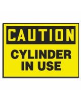 Accuform Signs 837-Lcpg603 Label  Caution Cylinderin Use  5X7  Mag Vnl (Qty: 1)
