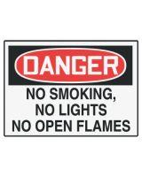 Accuform Signs LSMK299VSP Label  Dgr No Smk No Light  3.5X5  Adh Vnl  5/Pk (1 PK)