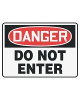 Accuform Signs MADM138VA Sign Dgr Do Not Enter  7X10 Al (1 EA)