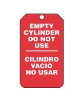 Accuform Signs SBMGT202CTP Tag  Empty Cyl Do Not Use  Sp-Bi  Pf-C  25/Pk (1 PK)