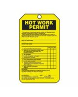 Accuform Signs Tcs361Ctp Tag  Hot Work Permit  Pf-C  25/Pk (1 PK)