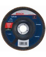 BOSCH FD2960080 6 x 7/8 Type 29 Zirconia Flap Disc Z 80 Grit for Finishing/Blending  (Bulk)