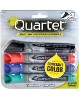 Quartet® EnduraGlide® Dry-Erase Markers - Chisel Point Style - Assorted - 4 / Set